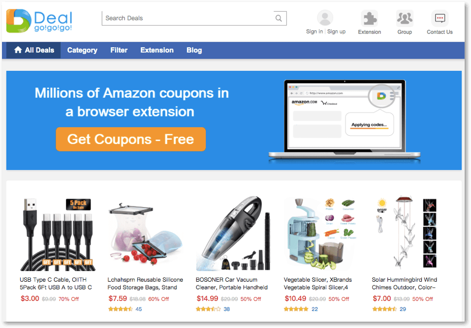 Deal Go Go Go Review Site - Amazon Free Item